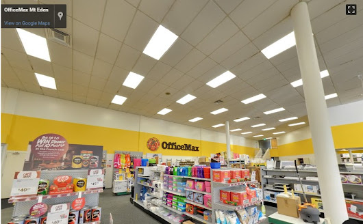 OfficeMax Mt Eden Google maps street view trusted | 360º virtual tours powered by Google Street View