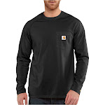 Carhartt Men's Force Cotton Long-Sleeve T-Shirt - Black