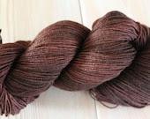 Chocolate Brown BFL Nylon Sock Yarn - Moon Stone Farm- Black Friday Cyber Monday - MoonStoneFarmYarn