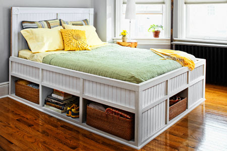 This reader-inspired bed contains 23 cubic feet of storage but no room ...