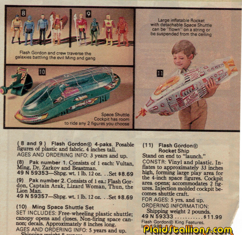 Mattel flash gordon action figures