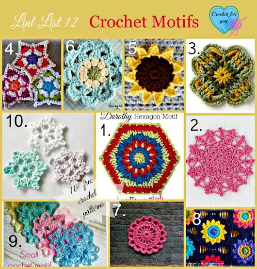 Httpcrochetforyouweeblybloglink List 12 Crochet Motifs