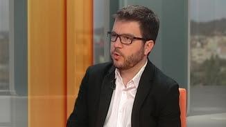 El secretari d'Economia, Pere Aragonès, al plató del 3/24