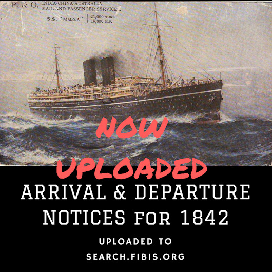 Bombay Times arrival and departure notices for 1842 - FIBIS