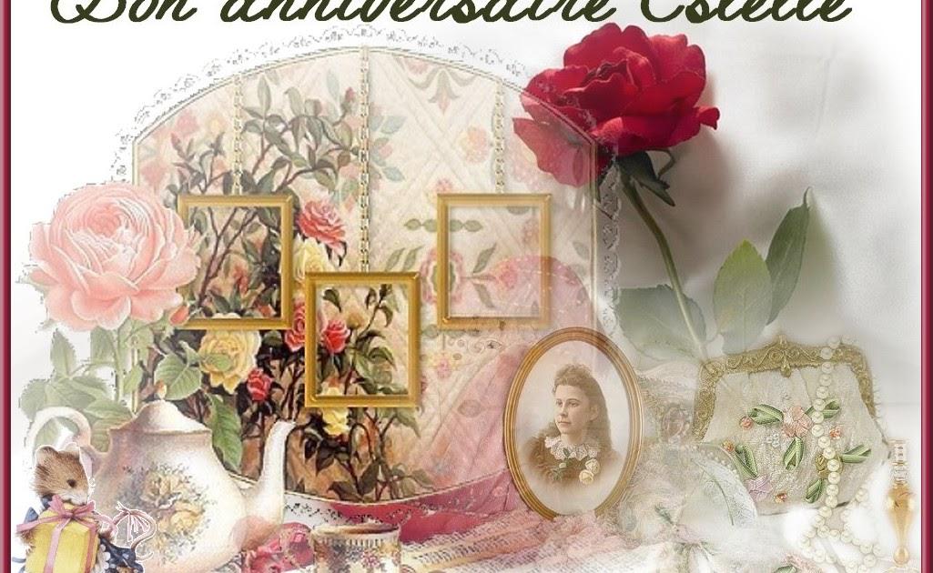 Carte Joyeux Anniversaire Estelle