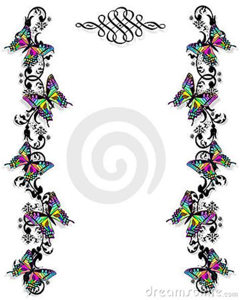 Butterfly Border Invitation Template Royalty Free Stock