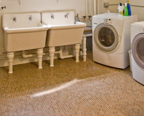 Flooring remodeling laundry room