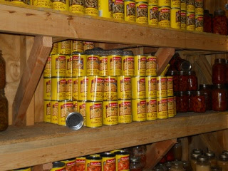 Root Cellar Snake on Cans