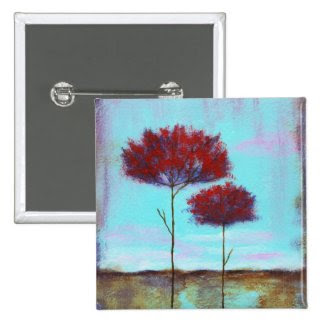 Cherished Square Pin From Original Painting