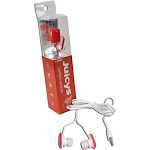 Vibe Juicys Comforty MP3 Earbuds Stereo Headphones 3.5mm - Red Cherry