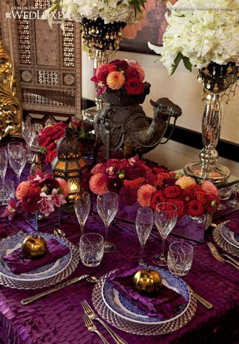 Moroccan Themed reception table decoration   Weddings