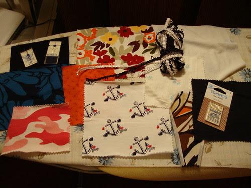 lucysfabrics.com sent lots of samples!