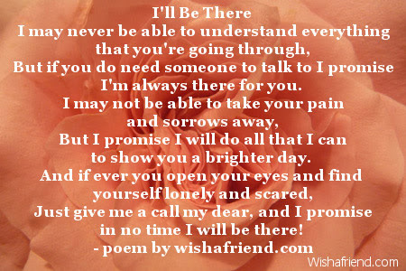 Ill Be There Sympathy Poem