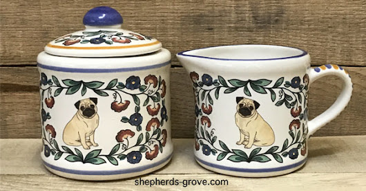 Enter to win a beautiful dog breed sugar bowl and creamer from Shepherds Grove Studio! The winner will choose from over 40 different dog breeds.