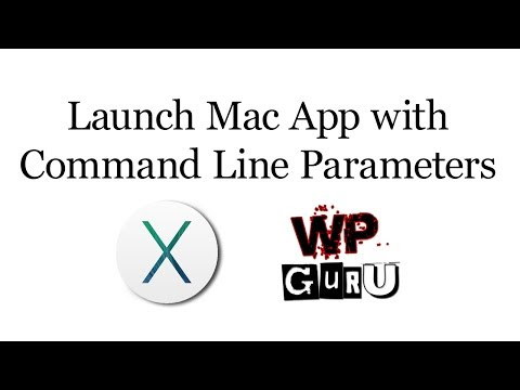 How to launch a Mac App with Command Line Parameters from the Dock