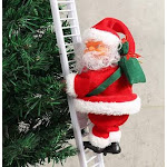 RICH-Po Electric Climbing Ladder Santa Claus Christmas Figurine Ornament Gifts 3+