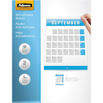 """Fellowes Self-adhesive laminating pouches, 9.25"""" x 12"""", Clear - 50-pack"""