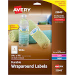 Avery Durable Wraparound Labels, White - 40 count