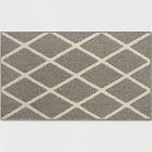 "1'8""X2'10""/20""X34"" Diamond Washable Tufted and Hooked Accent Rug Warm Gray - Threshold , Size: 1'8""X2'10""/20""X34"""