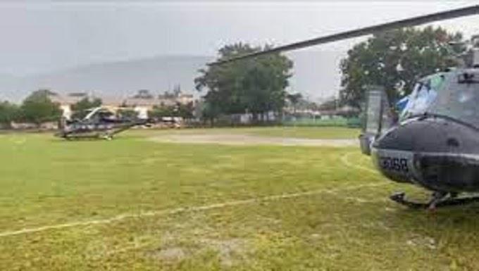 HELICÓPTERO PRESIDENCIAL ATERRIZA DE EMERGENCIA DEBIDO A MAL TIEMPO CLIMÁTICO