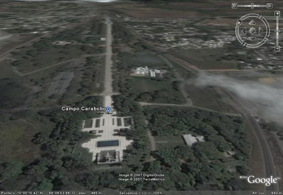 foto satelital de campo de carabobo 2