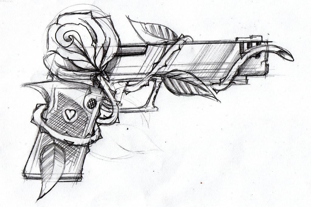 Flower Gun Tattoo Flowers Healthy