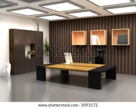 The Modern Office Interior Design (3d Render) Stock Pho