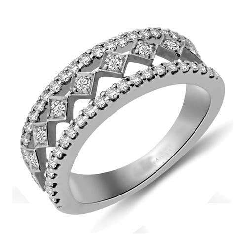 Beautiful Round Diamond Wedding Band for Her   JeenJewels
