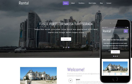 Rental a Real Estate Category Responsive Web Template - w3layouts.com