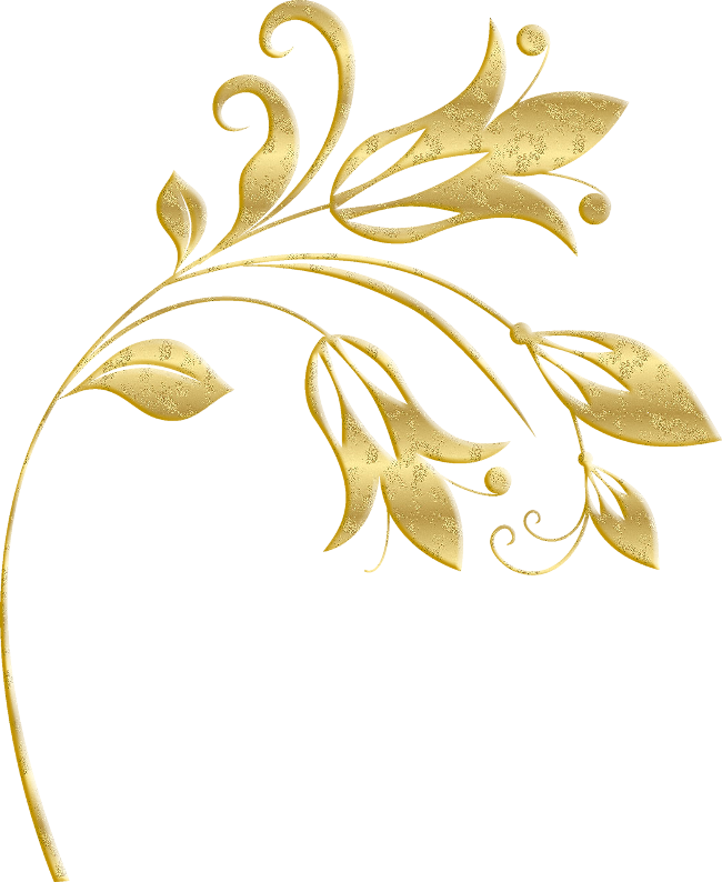 Dambero زخارف ذهبية سكرابز ذهبي Png