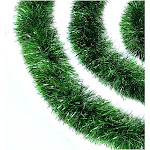 Northlight 50 ft. Festive Xmas Green Christmas Tinsel Garland - Set of 3, Size: Large