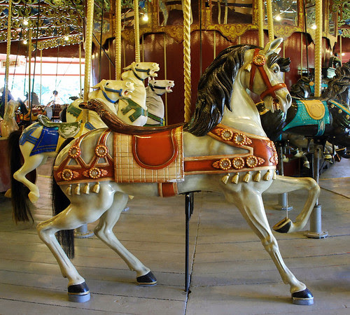 A carousel horse on the Port Dalhousie Carousel.