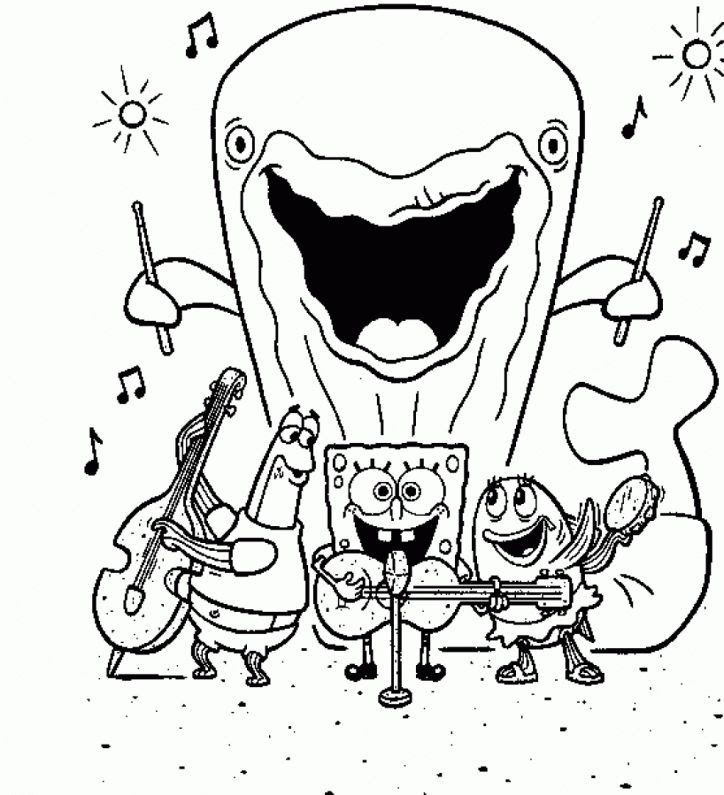430 Spongebob Coloring Pages Free Printable  Images