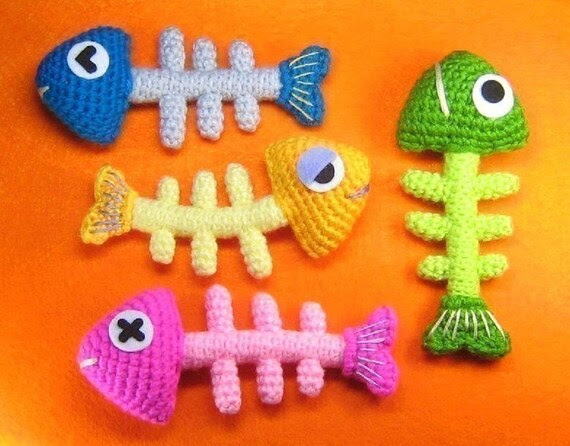 Fish Bone Crochet Pattern - PDF