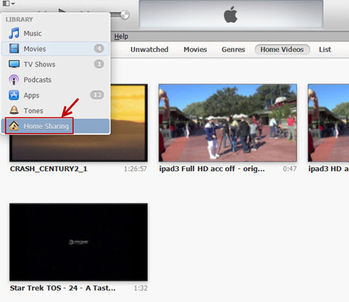 set up Home Sharing in iTunes