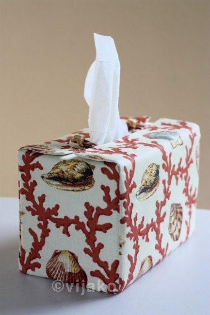 Ocean themed rectangular tissue box cover