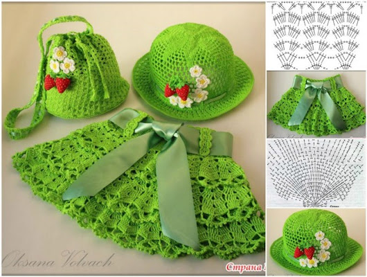 Crochet free Pattern - Bag, Hat and Skirt Set for Little Girls - DIY Masters Blog Inspiring Ideas, Crafts & Decor Projects