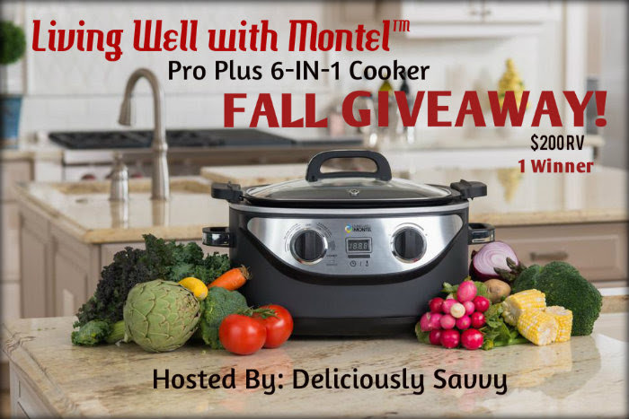 Living Well with Montel™ Pro Plus 6-IN-1 Cooker Fall Giveaway! ($200 RV) @lwwmontel