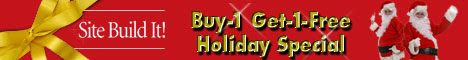 SiteSell Buy-1 Get-1-Free Holiday Special