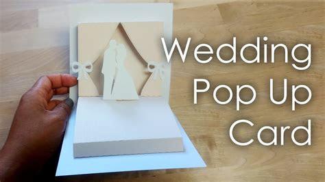 [Tutorial   Template] DIY Wedding Project Pop Up Card