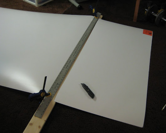 Breaking Down A Laminate Sheet With A Utility Knife » Ben's Workshop