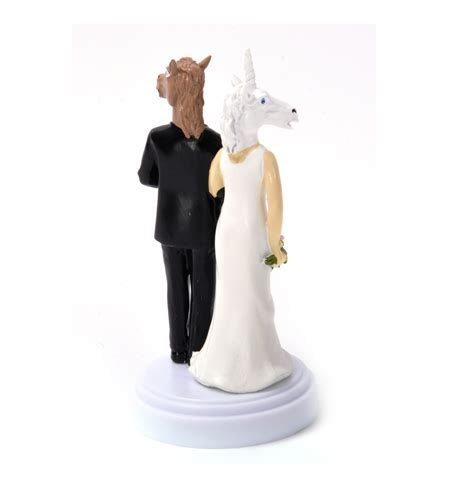 Unicorn and Horse Wedding Cake Topper   Pink Cat Shop