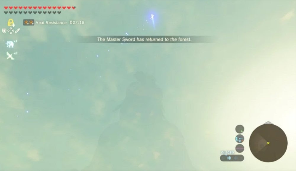 Player discovers Zelda: Breath of the Wild glitch that drops the Master Sword screenshot