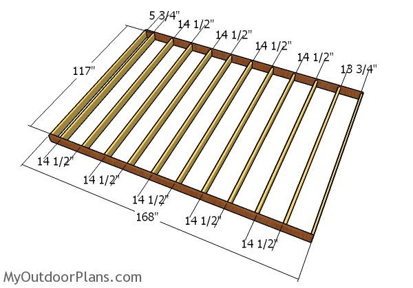 10x14 Shed Plans Myoutdoorplans Free Woodworking Plans And