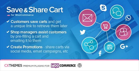 Save & Share Cart for WooCommerce v2.19 - free download gratis terbaru