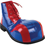 Men's Funtasma Blue and Red Clown Shoes