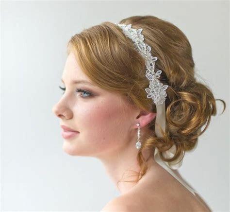 Bridal Ribbon Headband   Bridal Lace Headband #2221972