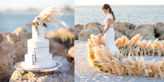 Beautiful Beach Wedding Ideas Inspired By Pampas Grass