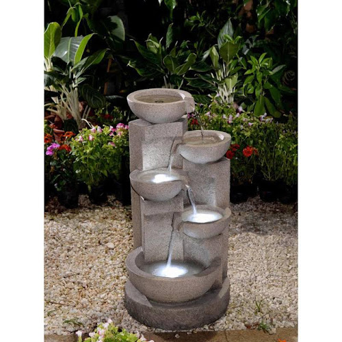 Jeco Inc Multi Tier Bowls Water Fountain With Led Light