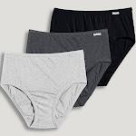 Jockey Women's Underwear Plus Size Elance Hipster - 3 Pack, Grey Heather/Charcoal Heather/Black, 9